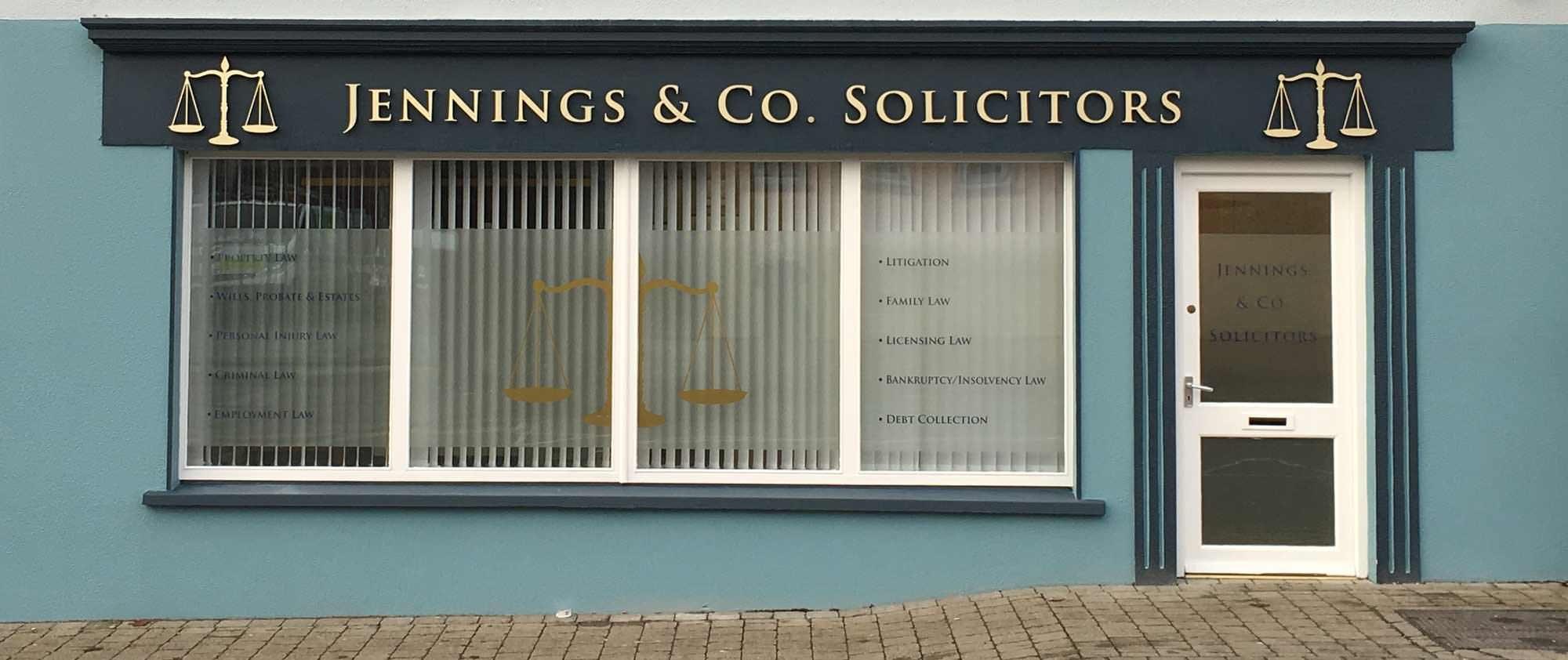 Jennings & Co. Solicitors Office in Claremorris Co Mayo